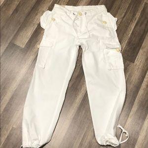 White Ralph Lauren cargo pants